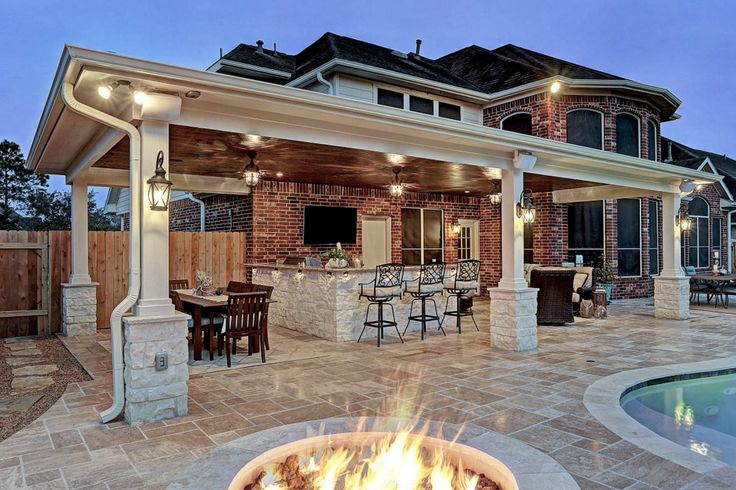 Gorgeous outdoor fire pit by Texas Custom Patios ...