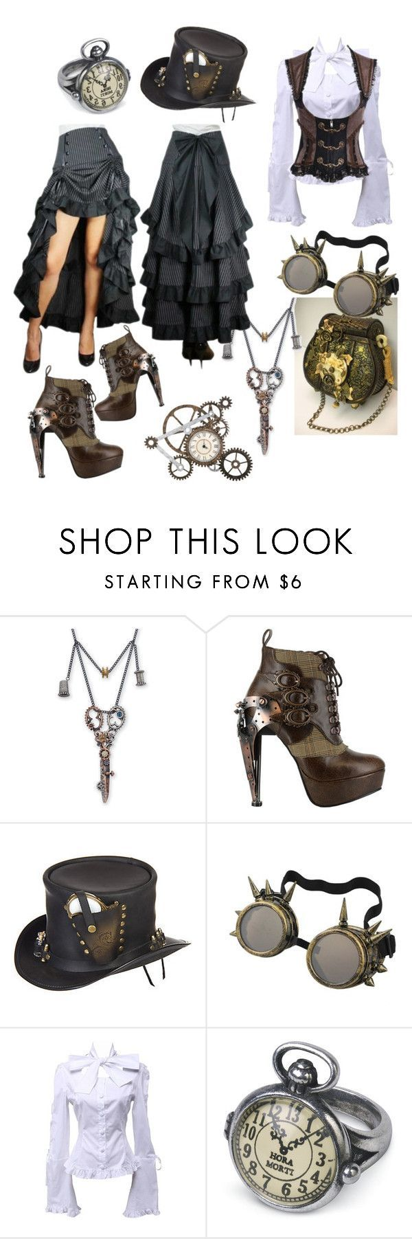 """Steampunk"" by iidapollari ❤ liked on Polyvore featuring HADES and Overland Sheepskin C"