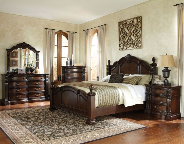 Churchill (Whse) Brown Master Bedroom Set | Bedrooms | The Classy Home |  Best