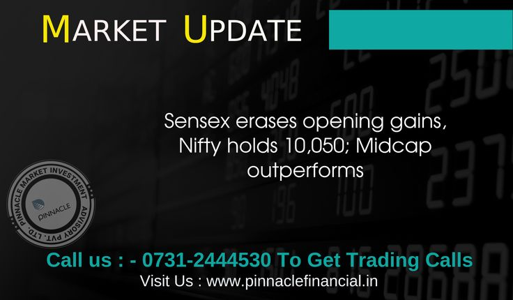 #Equity benchmarks erased early gains, with the #Sensex down 27.38 points at 32,298.03 and the #Nifty down 3.45 points at 10,062.95. TCS, Infosys, HUL, Reliance Industries, HCL Technologies, Yes Bank and ONGC were under pressure while ICICI Bank, Tata Steel, Maruti Suzuki, Hero Motocorp and Vedanta gained strength. The broader markets outperformed benchmarks, with the BSE #Midcap and #Smallcap indices rising half a percent each. About two shares advanced for every share falling on the BSE.