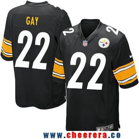 16bd745a5e9 ... Mens Pittsburgh Steelers 22 William Gay Black Team Color Stitched NFL  Nike Game Jersey .