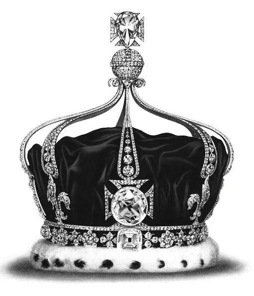 Berlian Koh i Noor di Mahkota Ratu Mary