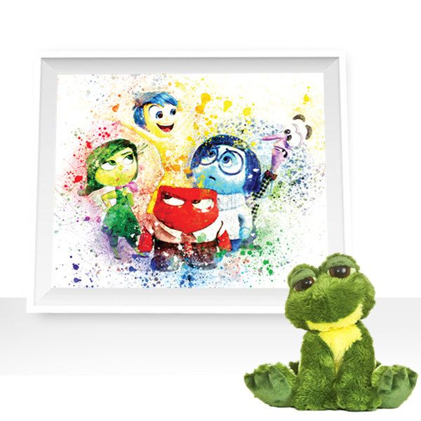 Inside out wall art, Inside out watercolor, inside out printables, Inside out Art Print, Inside out decor Disney Wall Art Disney art by HappyLittleFrog on Etsy