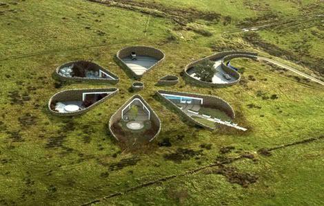 construction maison-fleur économisant l'énergie par Make Architects et CABE au Lancastre