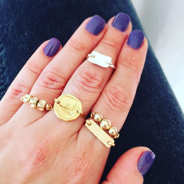 Gold ring for women, Stacked ring, Coin jewelry, Coin ring, Gold coin ring, Everyday ring, Antique style jewelry, Gold filled ring http://etsy.me/2DVDMZM #jewelry #ring #gold #women #goldringsforwomen #stackedring