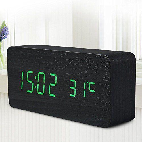 Quality Digital Led Alarm Clock Sound Control Wooden Despertador Desktop Clock Usb/Aaa Powered Temperature Display^Green.  #Alarm #Clock #Control #Desktop #Despertador #Digital #Display^Green. #Powered #Quality #RusticGrandfatherClock #Sound #Temperature #Usb/Aaa #Wooden The Rustic Clock