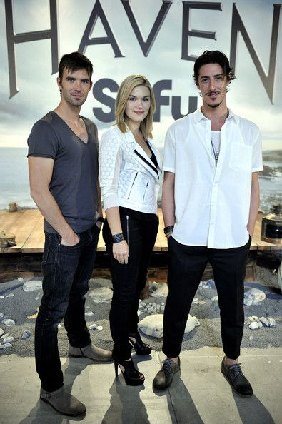Emily Rose and Eric Balfour - Emily Rose, Eric Balfour and Lucas Bryant Present 'Heaven' in Madrid