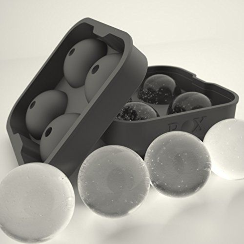 ROX Sphere Ice Ball Maker - Classic Black Silicone Ice Ball Mold with 4 X 4.5cm Ball Capacity Tray. Flexible Round Silicone Mold for Easy Removal of Ice Balls. Taste the Whiskey Not the Water. (1, Rox Single Pack) Rox http://www.amazon.com/dp/B00CBM3A8Y/ref=cm_sw_r_pi_dp_sL0hub0HVB0KS