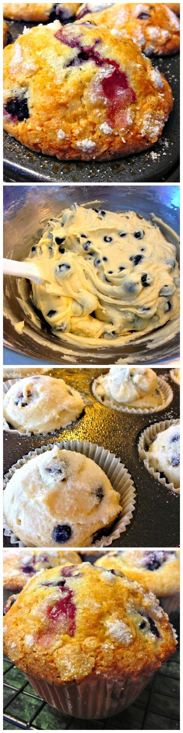 Our Bakery Style Blueberry Muffins are moist & bursting with juicy blueberries! Quite possibly the most scrumptious blueberry muffins you may ever make!