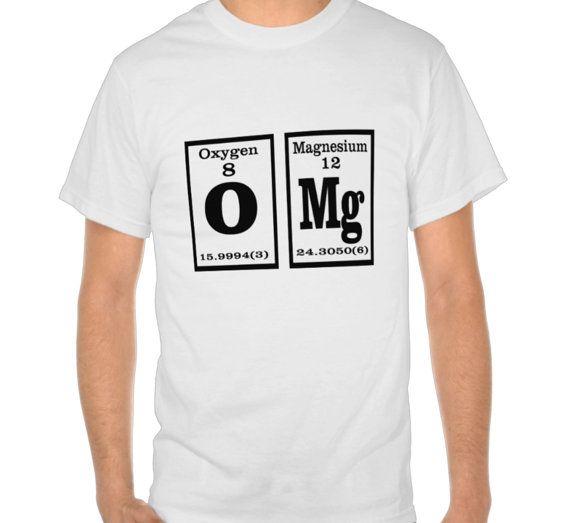 OMG Periodic Tabel Tshirt Mens Humor TShirts by xOnceUponADesignx - $14.99