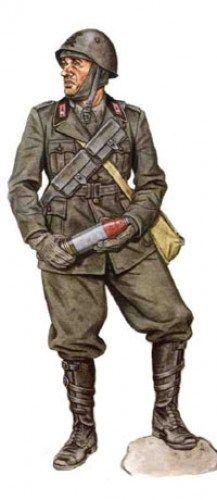 """Regio Esercito - Artigliere, 59° Reggimento Artiglieria, Divisione """"Cagliari"""",1940"""