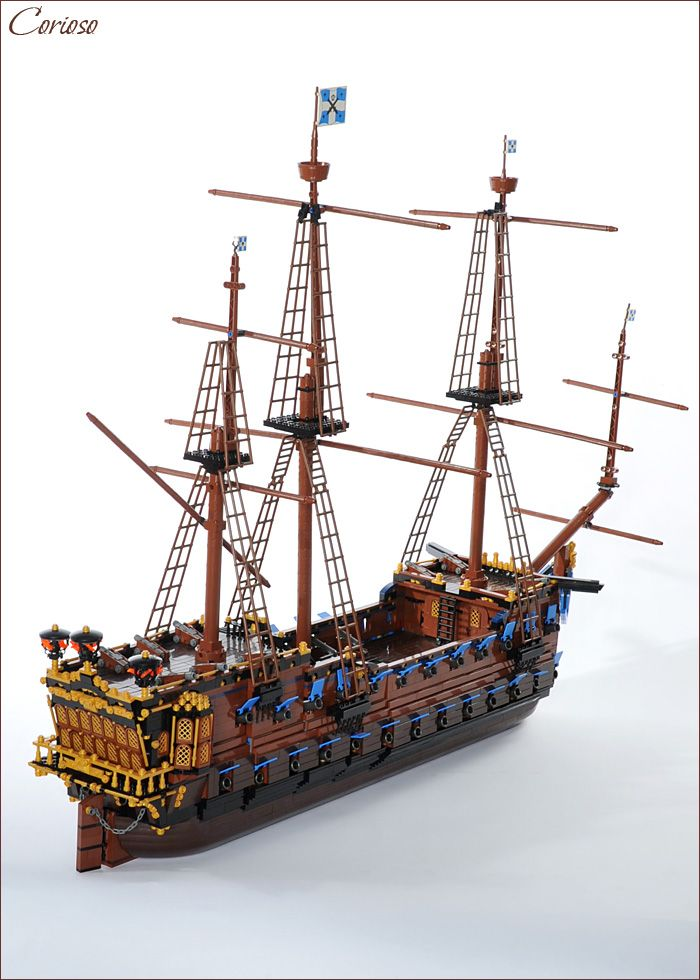 #LEGO #Pirate ship. A lot of very detailed pictures if you click through.  It is nothing short of incredible.