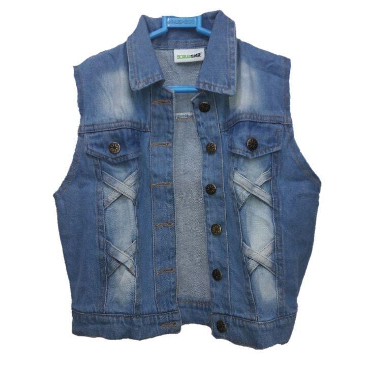 Ladies/Women/Girl/Top/Cotti/Blazer/Denim Open Jacket