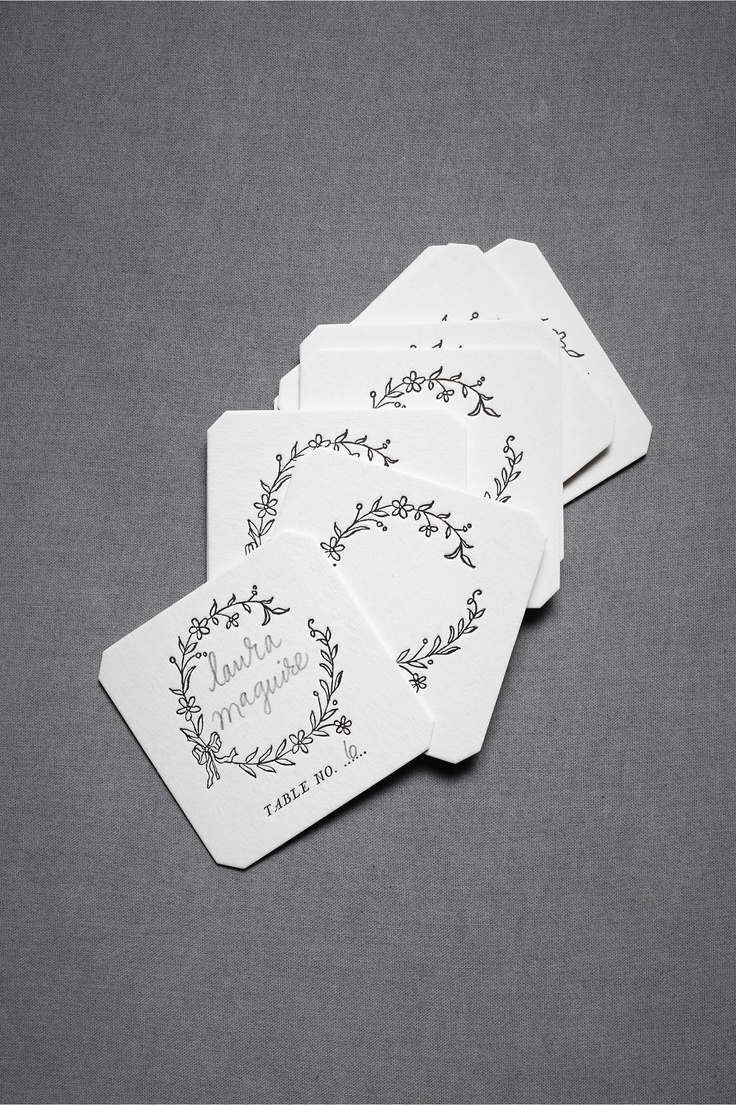 Hollyhock Place Cards  $16.00
