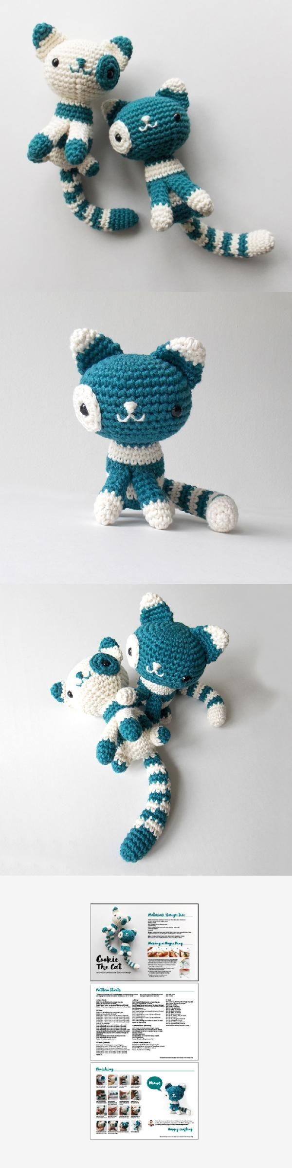 Cookie The Cat amigurumi pattern