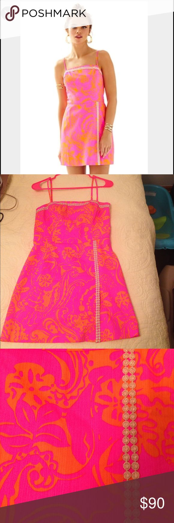 Lilly Pulitzer Jesse Skort Romper I'm usually a size 0 or 2 but the website and reviews said runs small and to get size 4. Fit like a glove! Only worn once. New condition! Willing to trade for other Lilly! Lilly Pulitzer Dresses Mini