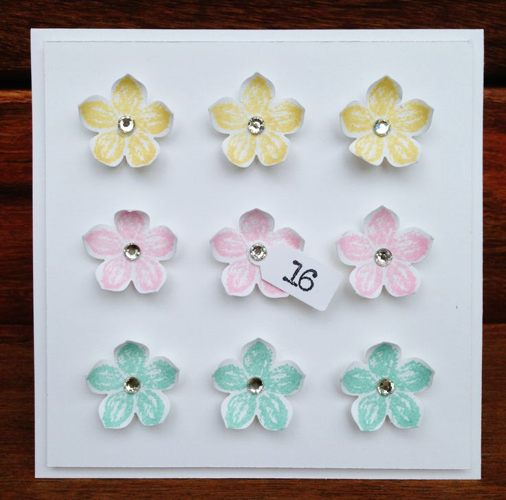 Petite Petals 16th Birthday Card. Supplies from Stampin' Up! Feel free to visit my Blog: http://stampmyday.blogspot.com.au/