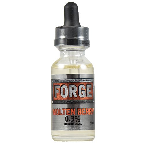 Forge Vapor eLiquids Molten Berry - Clean, true, and bright, Molten Berry shines with a sweet raspberry profile that banks the tartness just enough to let you really turn up the heat and make vapor. If you're not a fan of tart vapes, just turn up the heat and enjoy that ripe raspberry sweetness.80% VG