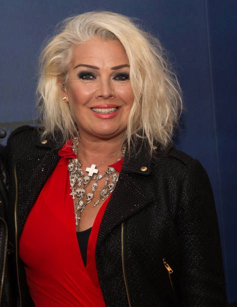 Kim Wilde poses for photographers at Rewind Festival on August 20 2017 in HenleyonThames England