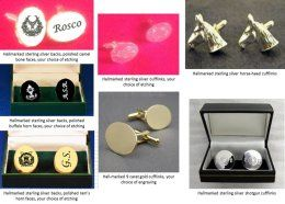 Hand-made, bespoke and unique cufflinks, with any etching/engraving that you require  6 weeks to deliver