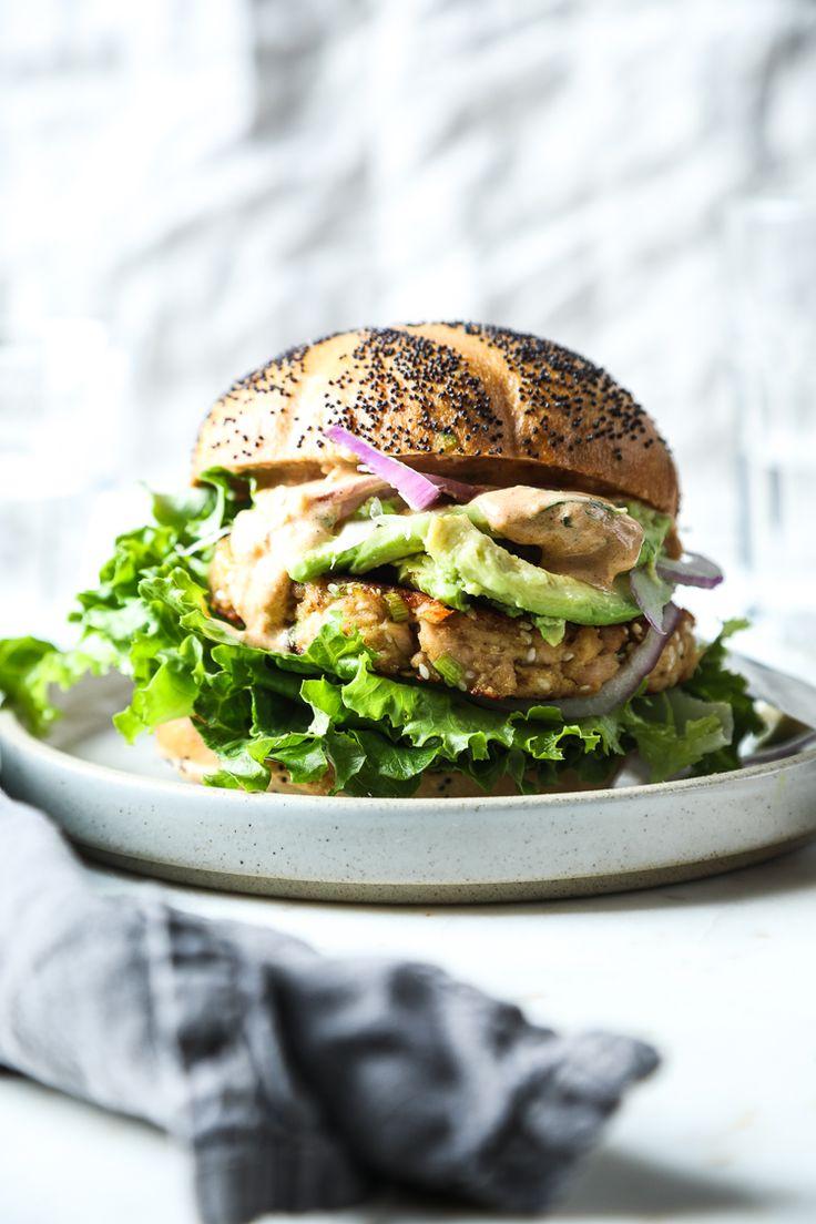 Scallion and Sesame Tuna Burgers with an Ancho Chili Sauce   The Flourishing Foodie   Bloglovin'