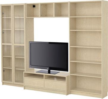 Billy Bookcase Combination With Tv Bench Modern