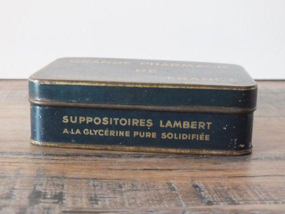Boîte métallique Grande Pharmacie de France R. POIRSON