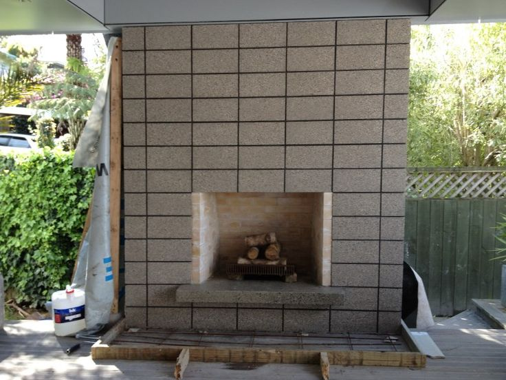 how to build an outdoor fireplace with cinder blocks ... on Outdoor Fireplace With Cinder Blocks id=77554