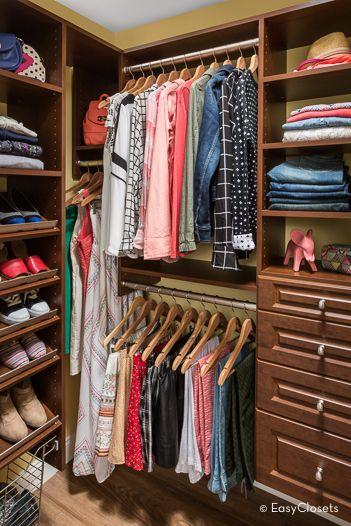 Chestnut Step In Closet | EasyClosets
