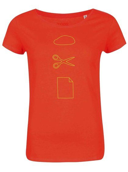 Oranžové dámske tričko ZOOT Originál Kámen Nůžky Papír