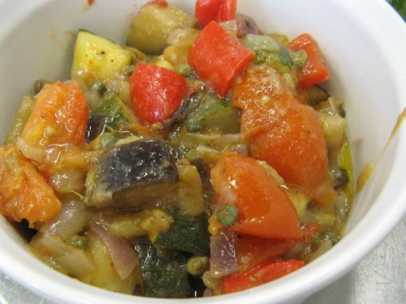 caponata di verdure alla siciliana con il Bimby