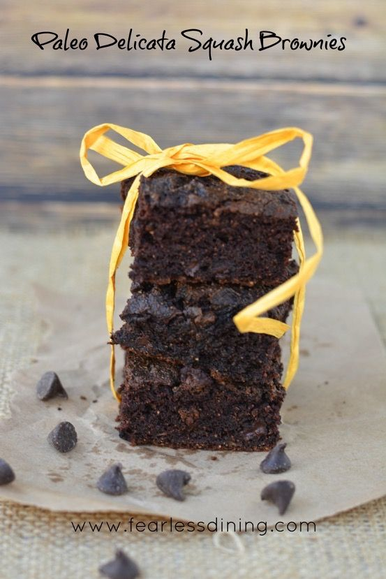 If you love moist and chocolatey brownies, give these grain free paleo delicata squash brownies a try. Gluten free and dairy free as well.
