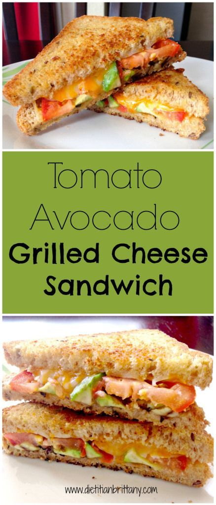 Tomato Avocado Grilled Cheese Sandwich on Your Choice Nutrition.  www.yourchoicenutrition.com
