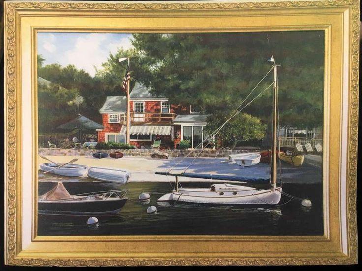 A painting of Joann Schreiber's Rowayton Avenue home