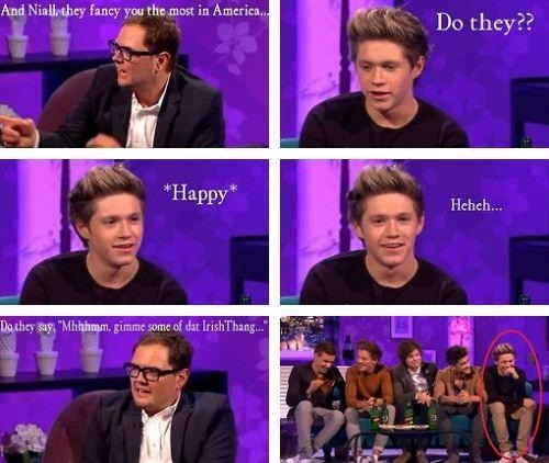 I LOVE these interviews xD Niall's reaction!!
