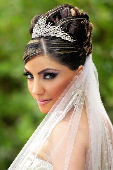 Chignon Haut Pour Mariage Avec Diademe Et Voile Idees