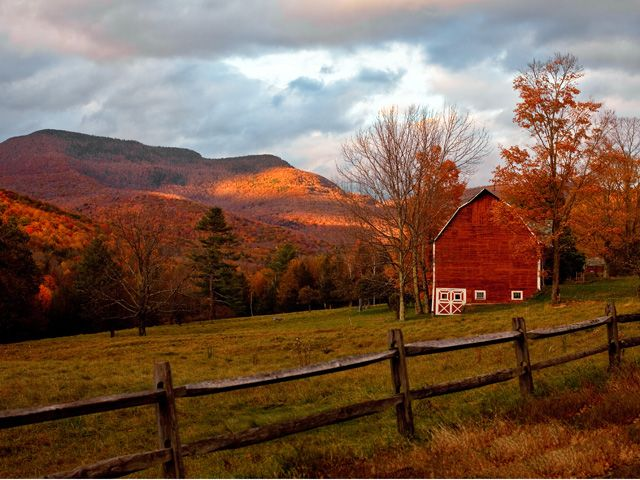 Beautiful Autumn Barn Photos - Fall Foliage Pictures - Country Living - Frank Spinelli/Getty