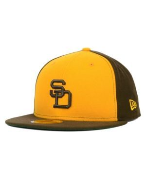New Era San Diego Padres Mlb Cooperstown 59FIFTY Cap - Gold 7 1/4