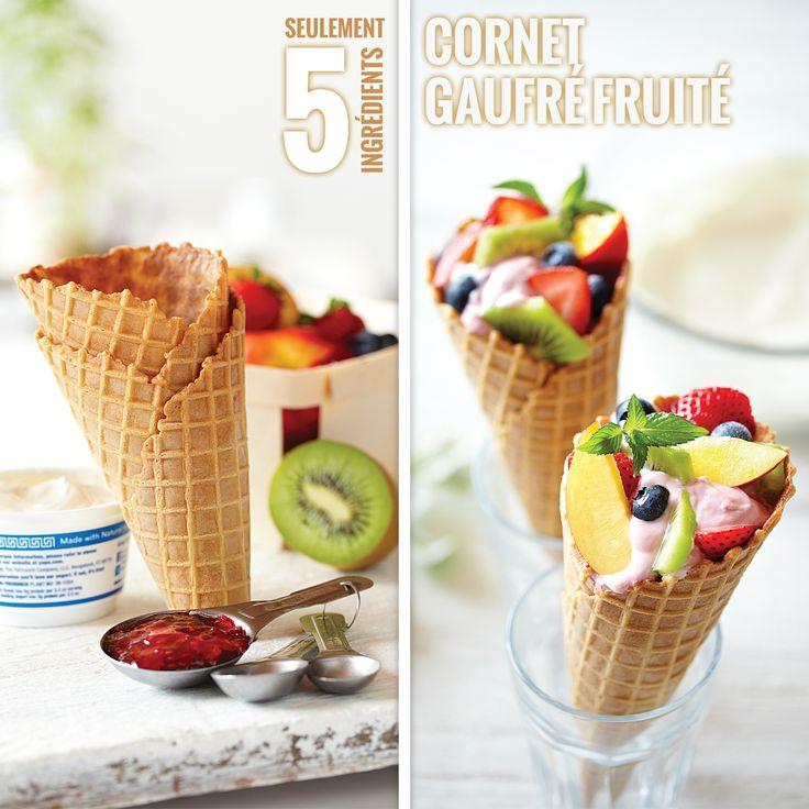 Cornet+gaufré+fruité+de+Smucker+'s®+