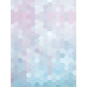 Lilac and Blue Hexagons Canvas Wall Art