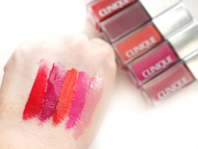 Clinique Pop Lacquer Lip Colour   Primer : Swatches and Review from blogger Girl Loves Gloss