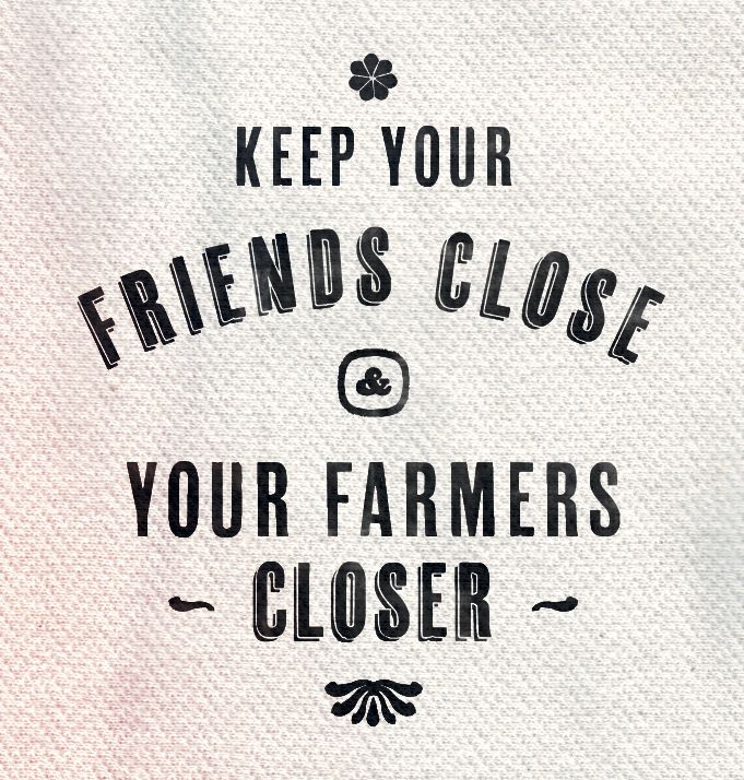 Take a trip to your local farmers markets this weekend :)