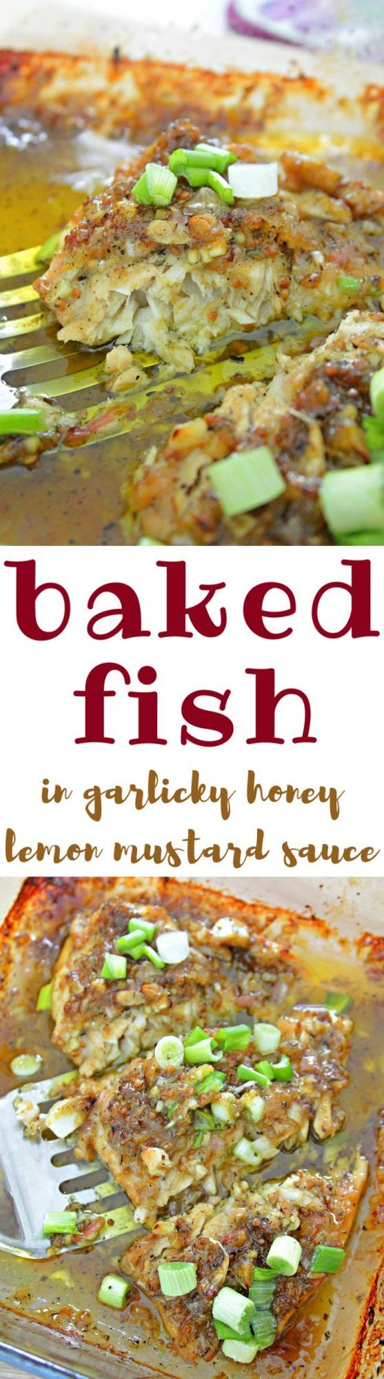 BAKED HONEY MUSTARD FISH RECIPE - Make this honey mustard fish for an easy and special meal! Marinated in honey mustard lemon sauce for the juiciest, most flavorful fish you'll ever make!  #fish #fishrecipes #bakedfish #food #recipes #recipeoftheday #recipeideas #foodblogger #foodlover
