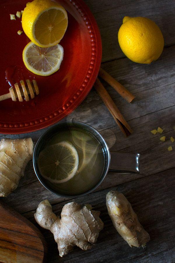 Rozgrzewająca herbatka z imbiru na przeziębienie | homemaker.pl @HomemakerPL