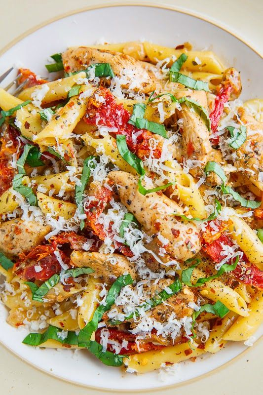 Creamy Chicken and Sundried Tomato Pasta | Closet Cooking