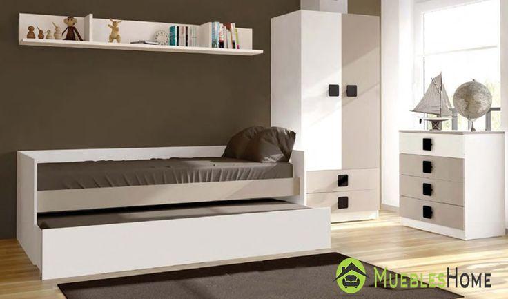 Cama nido armario comoda para el dormitorio juvenil e - Dormitorio pequeno juvenil ...