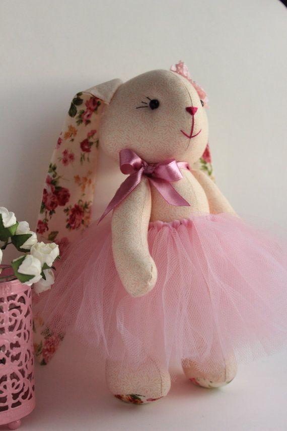 Stuffed bunny Bunny doll Plush bunny Stuffed animals by TildaArt