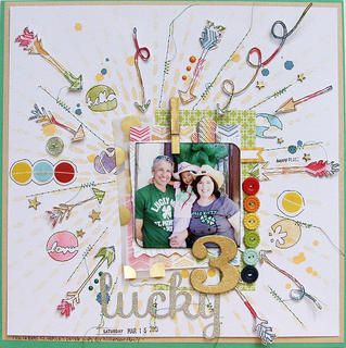 #papercraft #scrapbook #layout Lucky 3 by patricia at Studio Calico