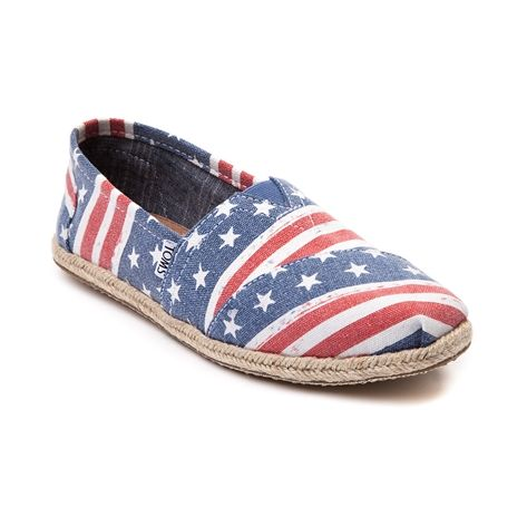 shop for womens toms classic american flag casual shoe in