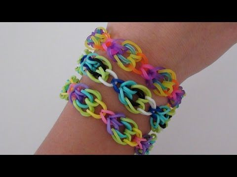 Rainbow Loom: Petal Chain Bracelet | How To - YouTube